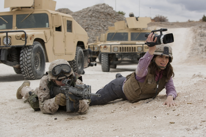 Left to right: Evan Jonigkeit plays Specialist Coughlin and Tina Fey plays Kim Baker in Whiskey Tango Foxtrot from Paramount Pictures and Broadway Video/Little Stranger Productions in theatres March 4, 2016.